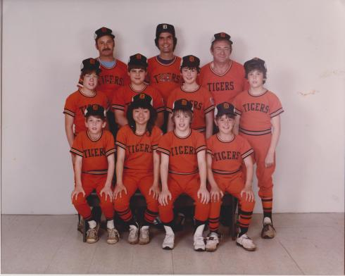 My dad (top center) and the Tigers, Torrington Little League, 1983